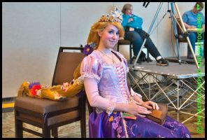 Rapunzel Cosplay: Just Resting by Mink-the-Satyr
