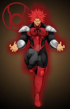 Red Lantern Broly by comicartist88