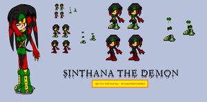 Sinthana the Demon Sprite Sample by ArianatheEchidna