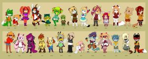 Old New Characters Part 3 (kids) by luna777