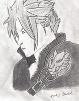 Cloud Strife (drawing 2) by Megaman-NetNavi