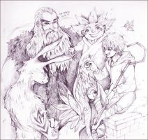 Rise of the Guardians Sketch by zerorinn