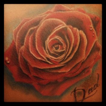 Colour Rose Tattoo by Green-Jet