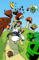 Ryu in the Mushroom Kingdom by BrandonPalas