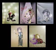 the GazettE chibi - collect by Alzheimer13
