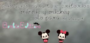 Minnie y Mickey animacion para el escritorio by BarbieEditionsYT