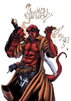 Hellboy smoke by logicfun