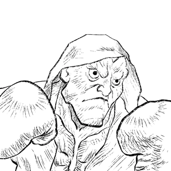 Balrog - Mike Bison Line Art by Frankqbe