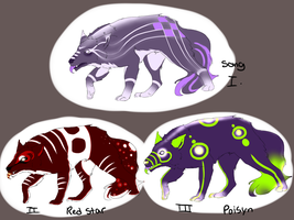 Simple Demon Wolves Adoptables (OPEN) by May-Ya