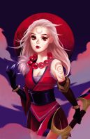 Blood Moon Diana by xcapriccino