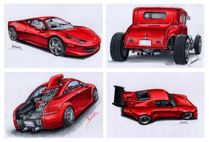 Red Series by vsdesign69