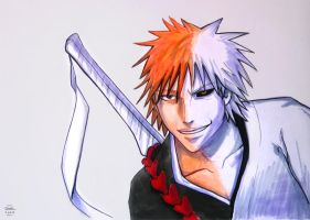Bleach: Ichigo+Hollow by Murklins