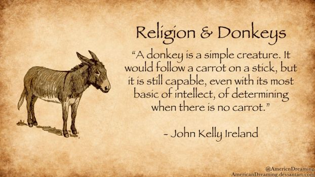 Religion and Donkeys by AmericanDreaming