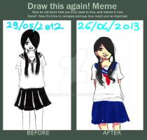 Meme  Before And After By Bampire by X3carlyX3