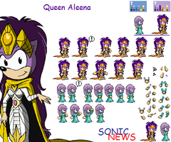 Queen Aleena sprites estilo Advance by sonicnews