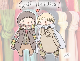 Scarf Buddies by Inky-Soul