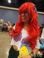 Hipster Ariel's Peace Sign by KrazyKari