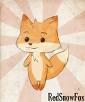 Chibi Fox by RedSnowFox