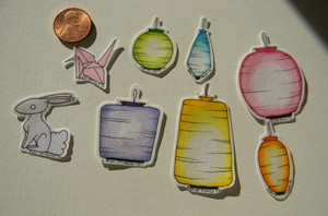 Rainbow Lantern Stickers by Ukeaco