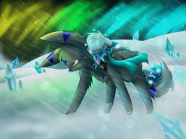 Against the snowstorm by EmijuTheFinnArtist