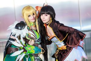 Elsword - Comrades (Rena and Ara) by boingbakachi
