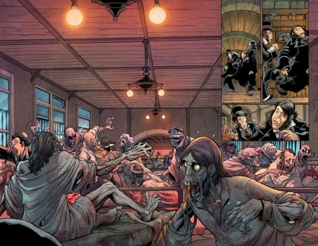 Marvel Zombies Double Spread by DonoMX