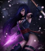 Psylocke on the way by FF-STUDIO