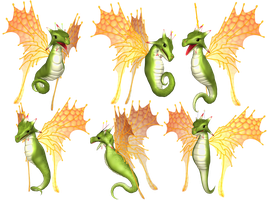 Fantasy Fairy Dragon 04 PNG Stock by Roys-Art