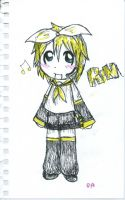 Rin With sharpie pens x3 by Hayalkin