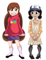 Mable and Clementine by Shellsweet