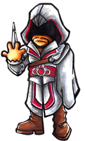 Chibi Brotherhood Ezio by GrannyandStu