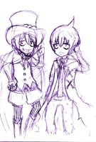 chibi mephisto and amaimon by marquis-persona