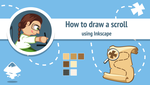 How to draw a scroll in Inkscape by AhNinniah