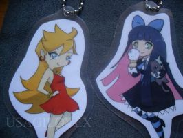 Panty and Stocking Keychain :D by UsagiLovex