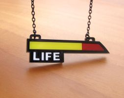 Life bar acrylic necklace by milkool