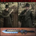 Steampunk Bowie Knife - Modular Sword by AetherAnvil