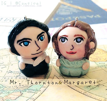 Mr. Thornton + Margaret Chibi Charms by Comsical