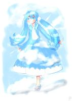 Blue Sky Miku -Rough Design- by ReenaCat