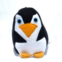 Stuffed Penguin plush toy by ZodiacEclipse