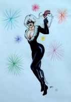 4th of July/ Amazing Spiderman Opening Blackcat by Medusa1893