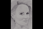 Drawing of Dianna Agron (Glee) by DevilsFurryFriend