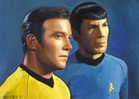 Spock and Kirk card by charles-hall