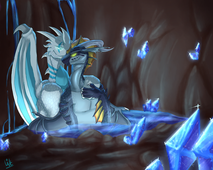 Moment in crystal water [commission] by Withelias