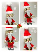Free Tiny Santa  Amigurumi Pattern by PinkCrochet
