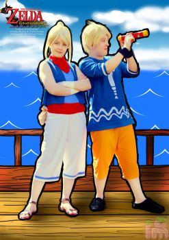 Tetra and Link from The Legend of Zelda Wind Waker by Annortha