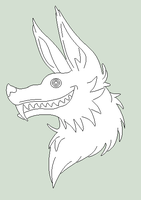 Original Base - Jester Wolf Headshot by Shadow-Bases