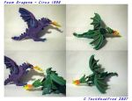 Foam Dragons - Circa 1998 by techheadfred