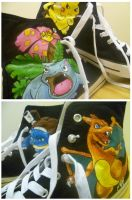Pokemon Painted Shoes by Frogger277