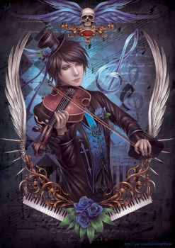 The Violinist by Yue-Iceseal