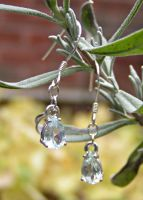 Frozen Tears Dangle Earrings by Izile